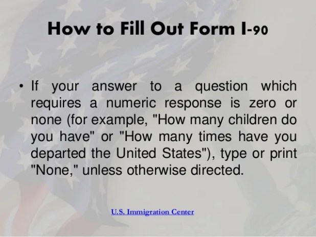 Application To Replace Permanent Resident Card Form I 90 Giftsite