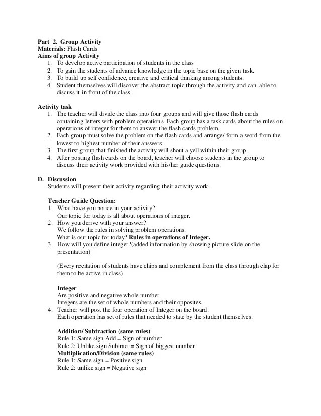 sample lesson plan for resume writing