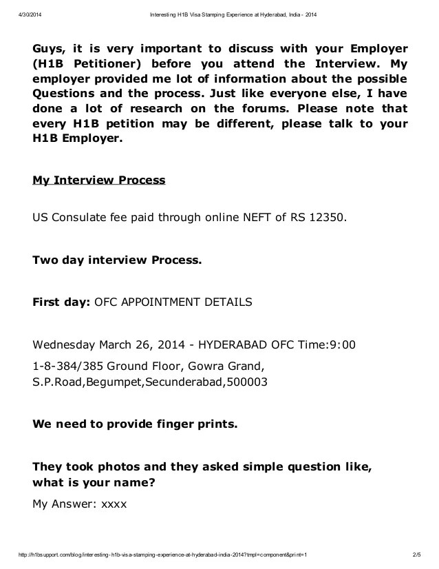 Employment verification letter for h1b visa interview textpoems interesting h1b visa stamping experience at hyderabad india 2017 spiritdancerdesigns Choice Image
