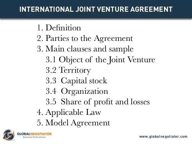 Joint Venture Proposal Template agreement format free word 39 s – Free Sample Joint Venture Agreement Template