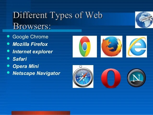 Safari Firefox Web Explorer Google Mozilla Chrome Internet Browsers