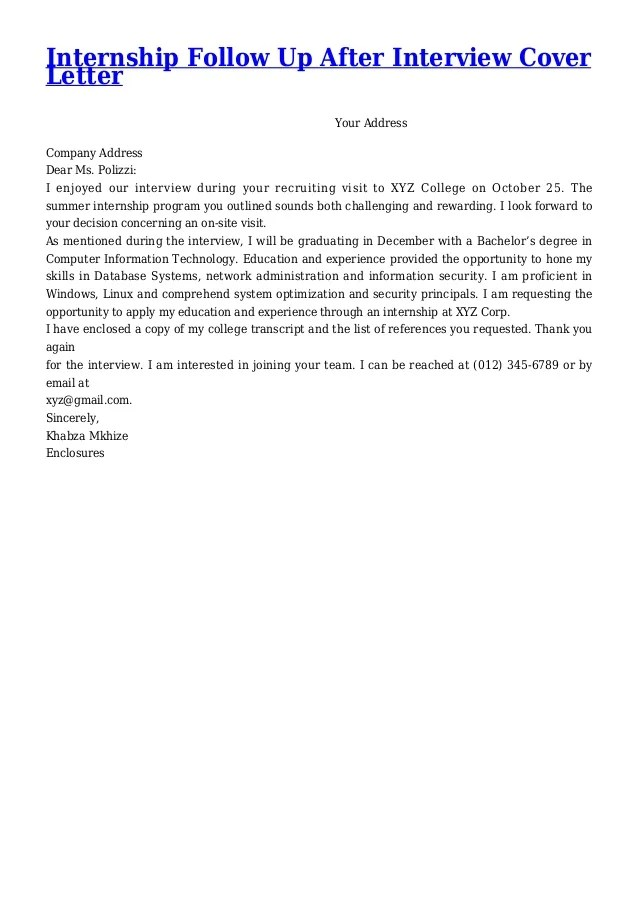 Resume Follow Up Letters Samples Letter And