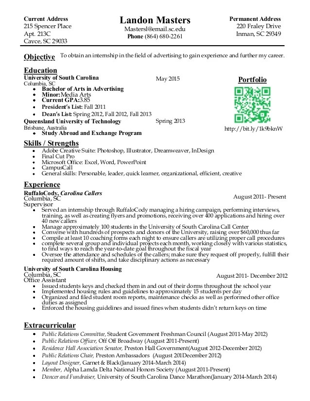 internship on resume resume template objective statement for