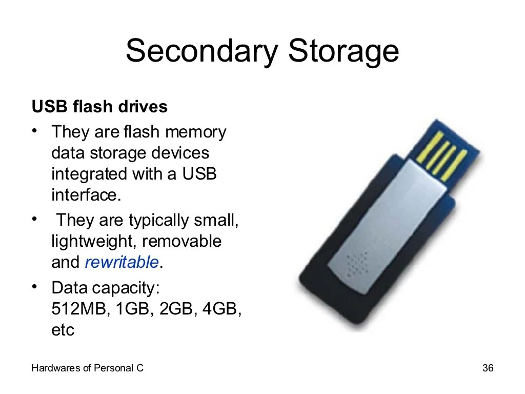 Secondary Storage Usb Flash Drives