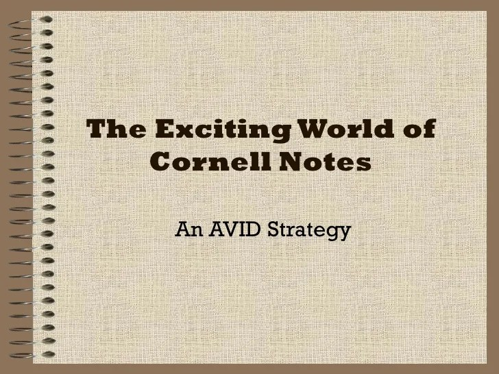 Cornell Notes Powerpoint Template  cornell notes student ppt