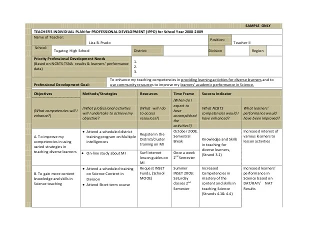 Individual Success Plan Template Pictures To Pin On Pinterest
