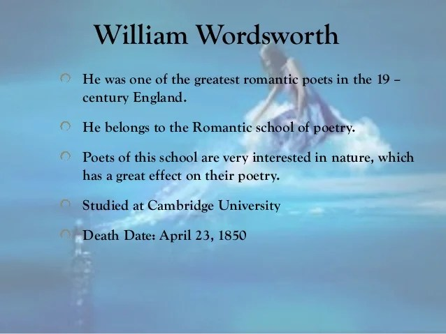 Some famous poems of william wordsworth