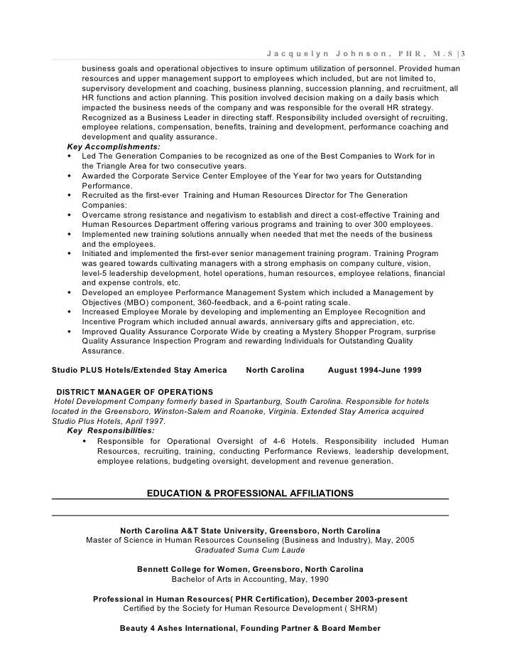 Human Resource Manager Resume Summary. Example Resume Of A Global