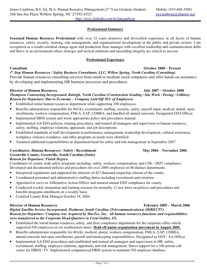 Sample Hr Generalist Resume. this resume is the copyrighted ...
