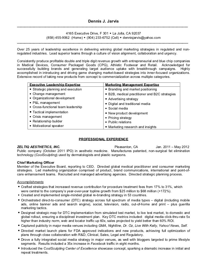 Marketing And Sales Resume Doc