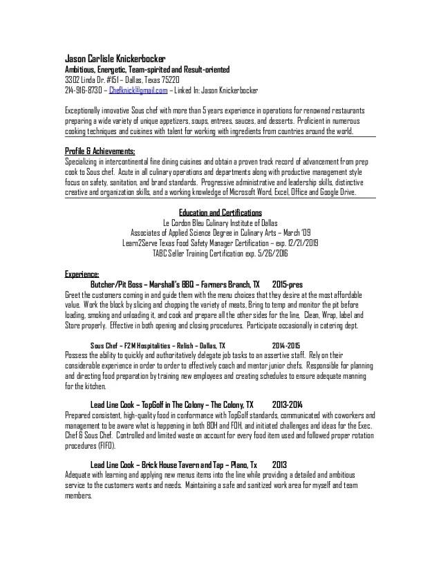 sample chef resume prep cook resume horse trainer resume on free