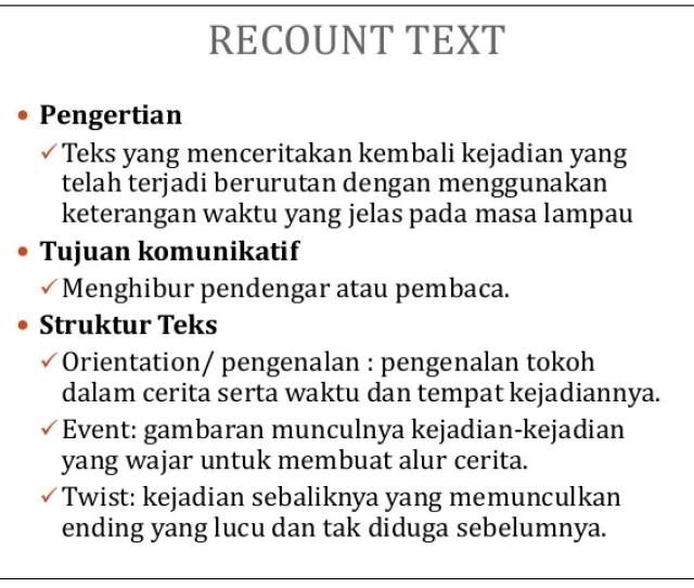 Recount Text  Ef   Pengertian  Ef  Bc Teks Yang