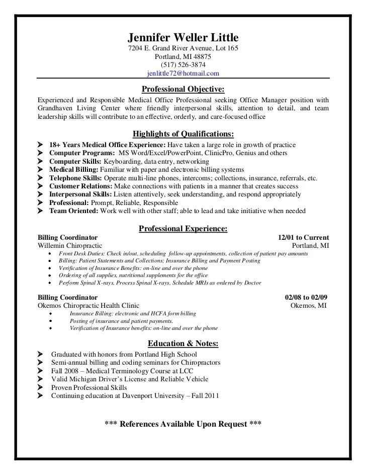 Health unit coordinator resume templates