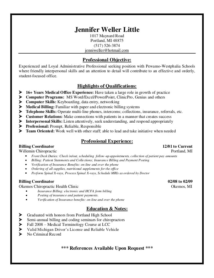 Medical Billing And Coding Resume Skills. . Coding Resume And