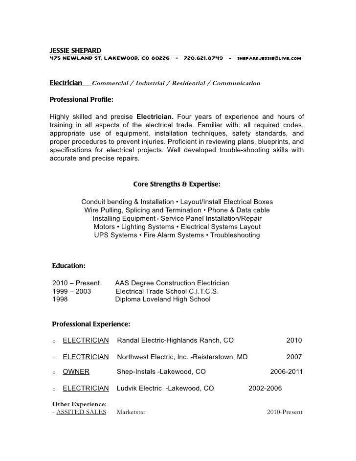 Apprentice Electrician Resume Examples. Electrical Apprentice