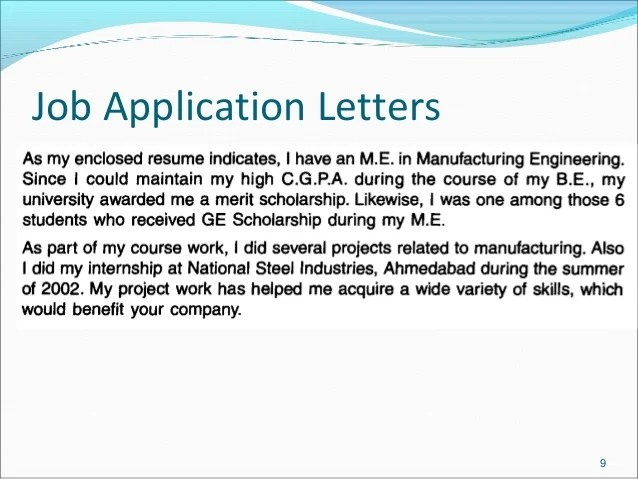 Job Application Letter Examples, A - Z List - The Balance