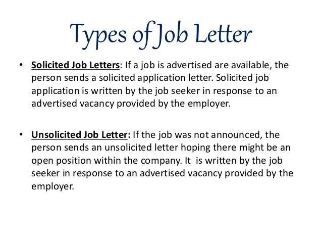 solicited cover letter samples