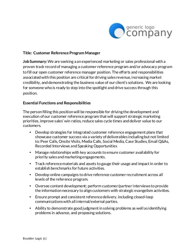 sample reference letter 14 free documents in word customer – Customer Reference Template