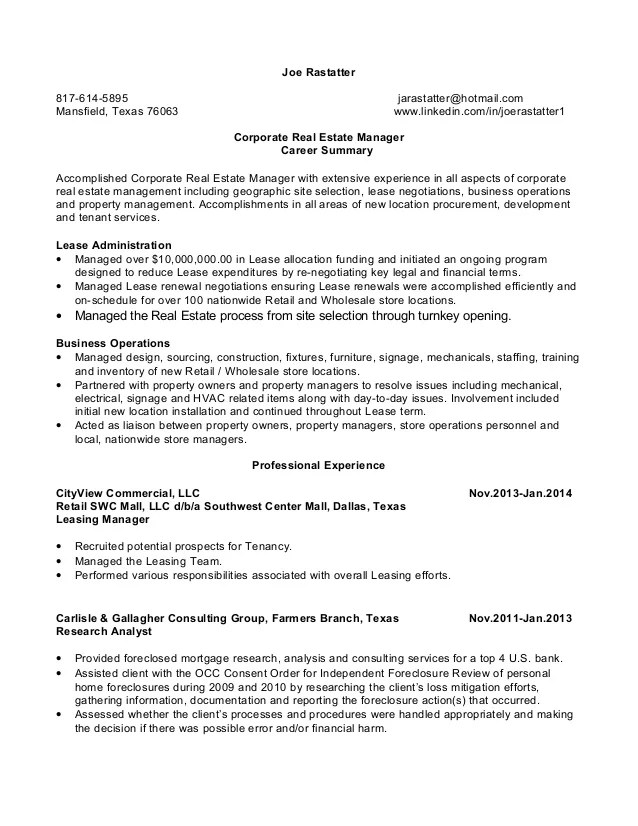 real estate manager resume s le moreover real estate manager resume
