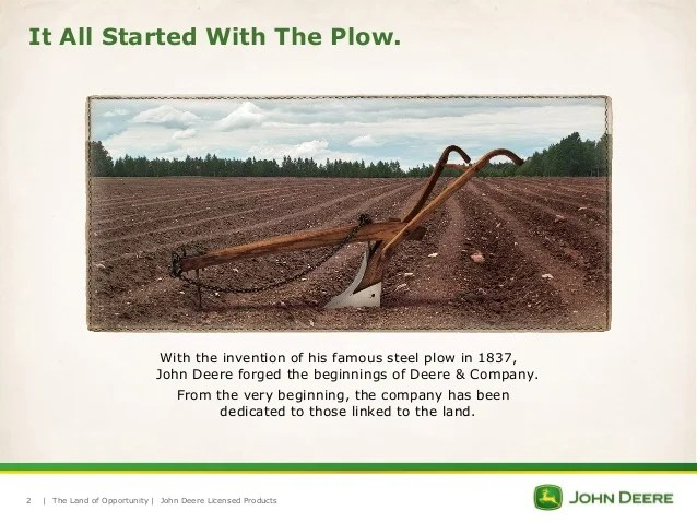 Deere John Very Plow First