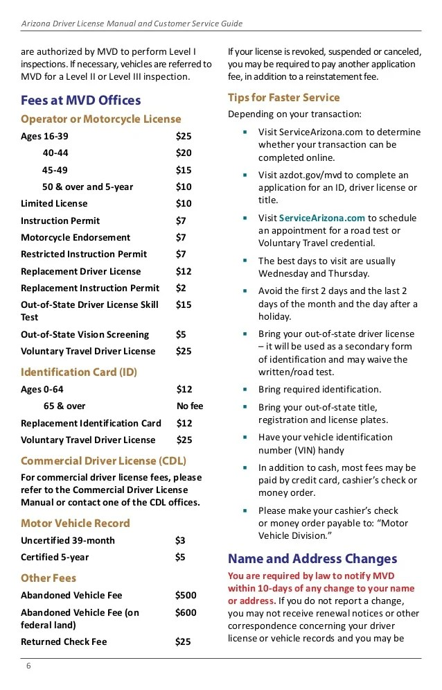 Arizona motor vehicle record report for Driver license motor vehicle record