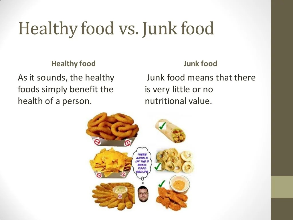 Junk Food And Healthy Food