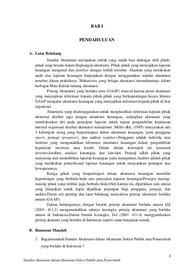 Contoh Makalah Karya Ilmiah Tentang Akuntansi