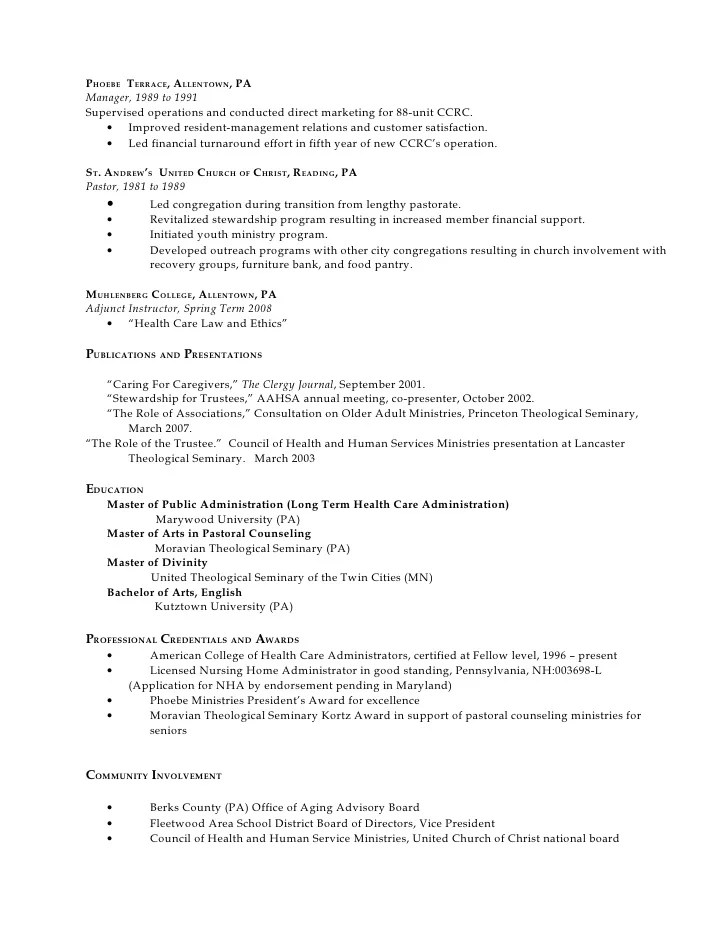 good examples of resume
