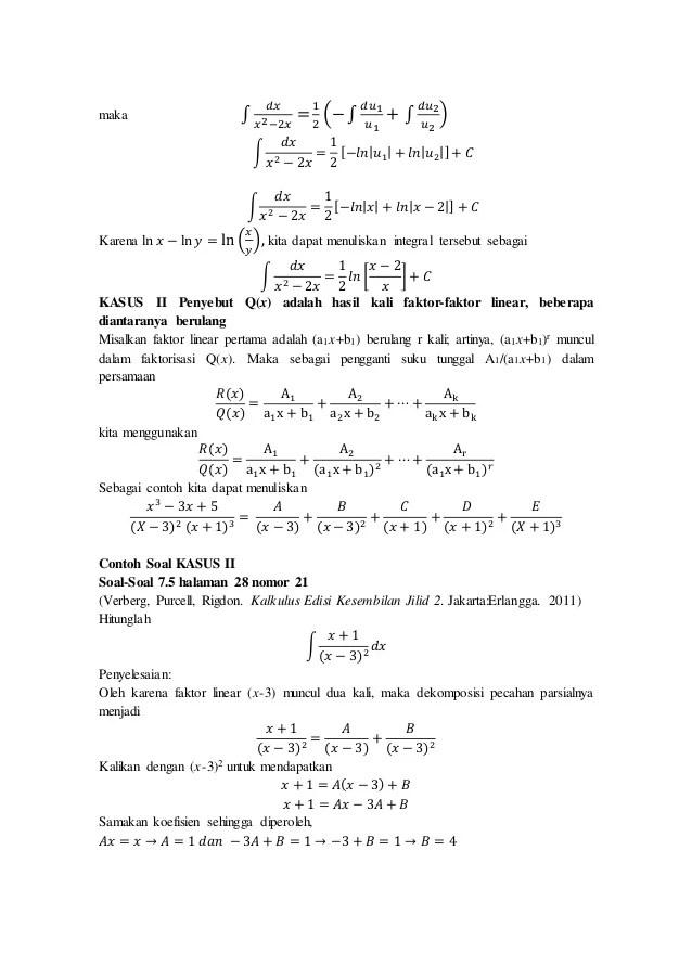 Integral sebagai limit jumlah riemann. Contoh Soal Dan Pembahasan Integral Fungsi Rasional Kumpulan Contoh Surat Dan Soal Terlengkap