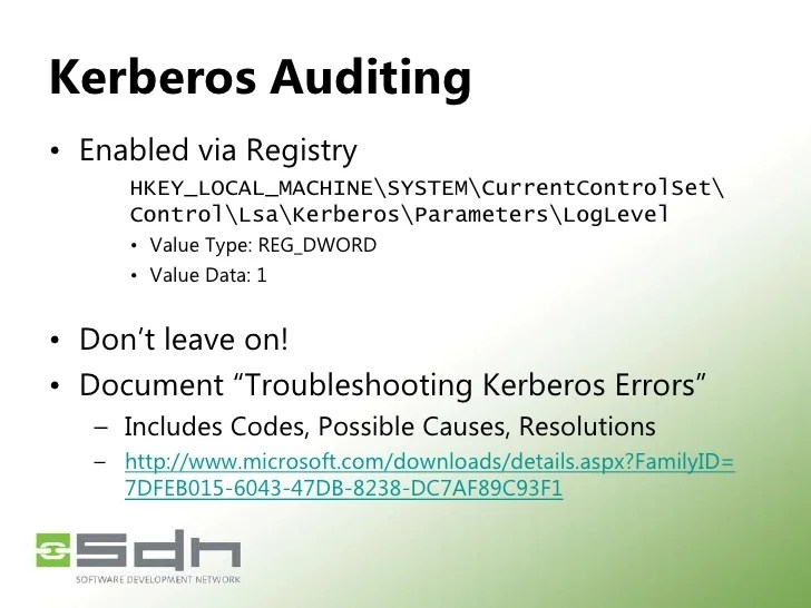 Event 7 Security Kerberos
