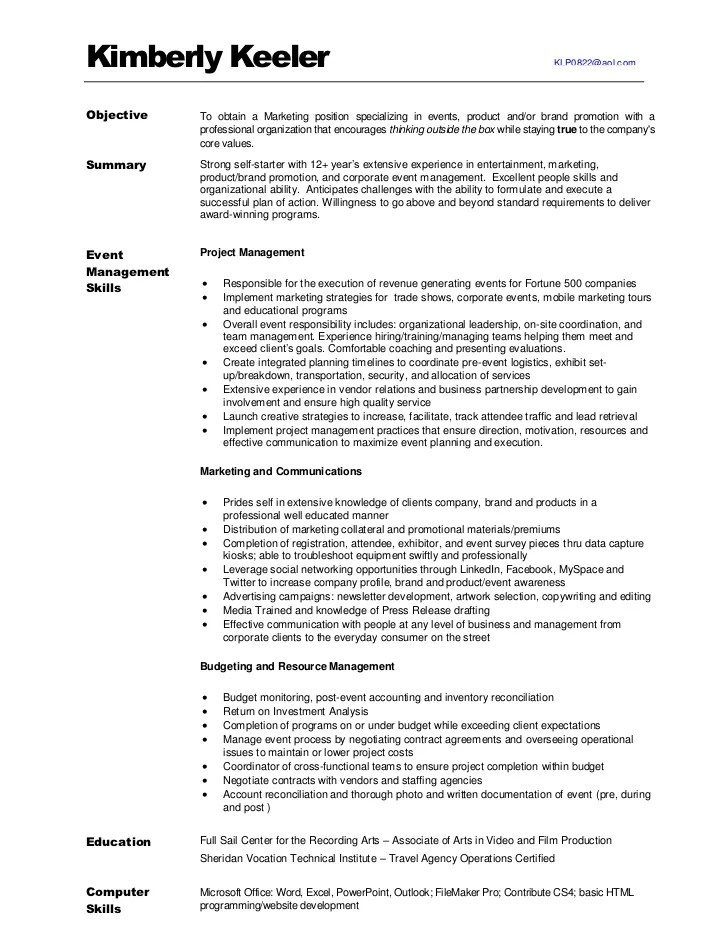 marketing resume profile summary free hvac repair manager resume
