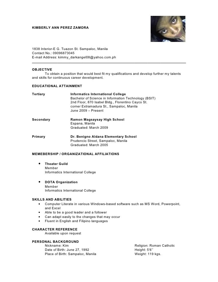 Character Reference Resume. With People Who Could Serve As A