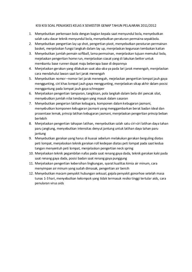 Contoh Soal Hots Pjok Sma Kelas Xii Kumpulan Materi Pelajaran Dan Contoh Soal 2