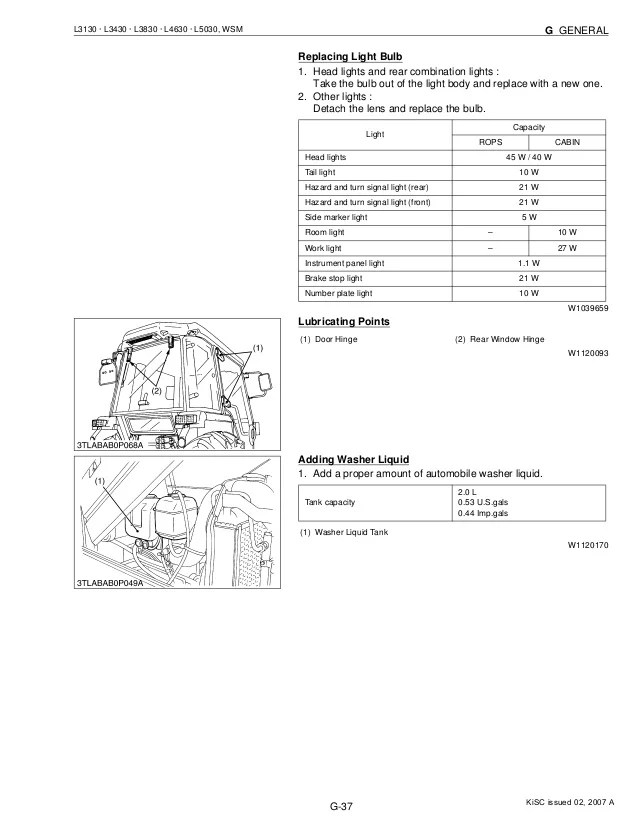 Kubota l3830 tractor service repair manual