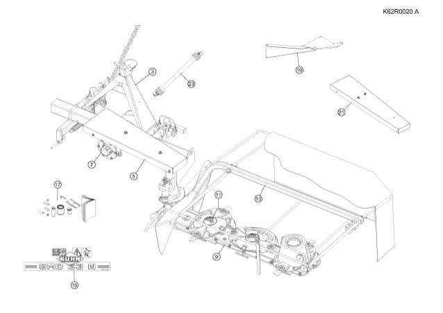700 Mower Parts Kuhn Disc