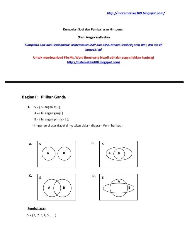 Bupelas pemetaan materi & bank soal matematika smp kelas 7. Contoh Soal Logika Matematika Perguruan Tinggi Kumpulan Contoh Surat Dan Soal Terlengkap