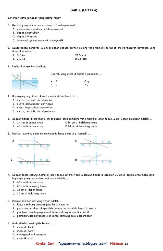 Soal Alat Optik Kelas 8 Dan Pembahasannya : optik, kelas, pembahasannya, Contoh, Fisika, Cahaya, Optik