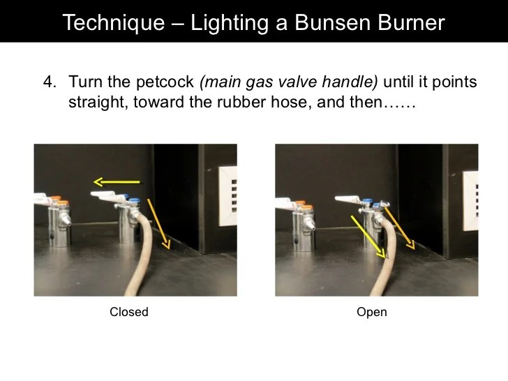 how to light a bunsen burner using striker www