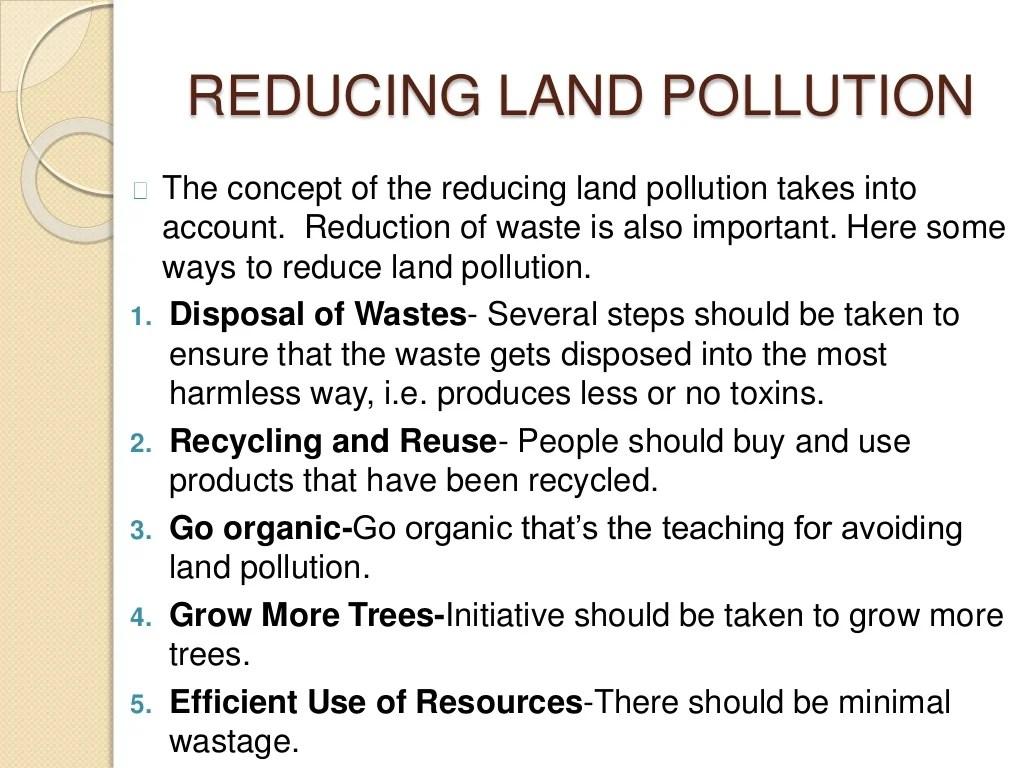 Land Pollution Environmental Science Grade 7