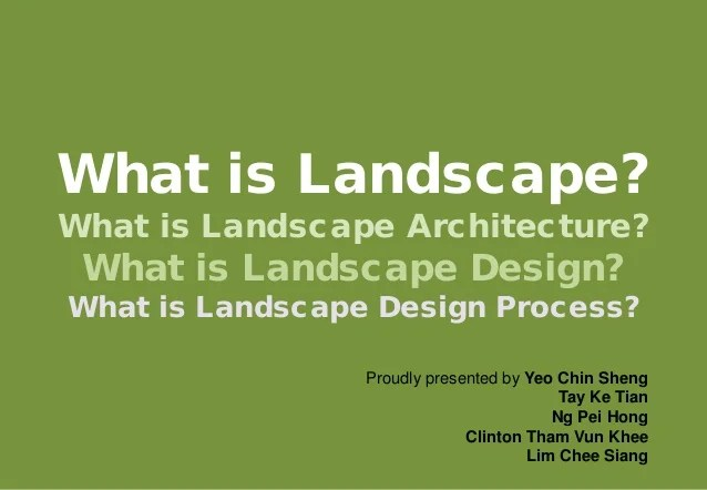 Landscape Design Courses