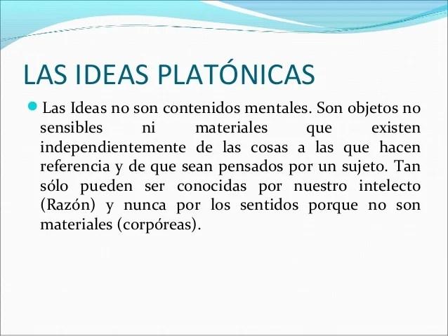Resultado de imagen de ideas platonicas definicion