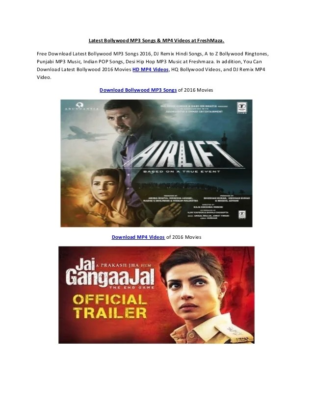 Latest Bollywood Songs Freshmaza