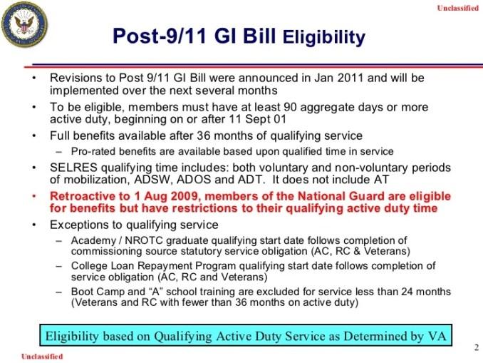 Post 9 11 Gi Bill Eligibility Letter Creativeletter