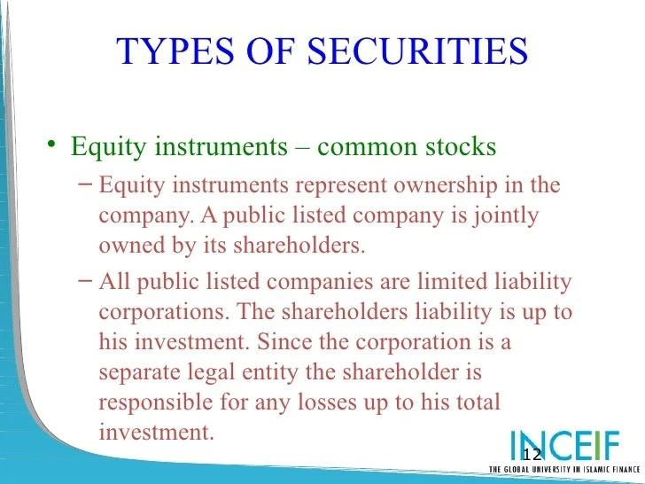 Types Securities Ownership