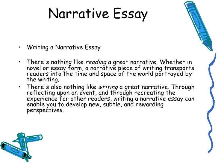 a good narrative essay topic