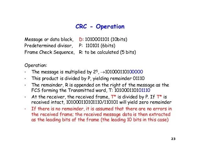 Crc Frame Check Sequence | Allframes5.org
