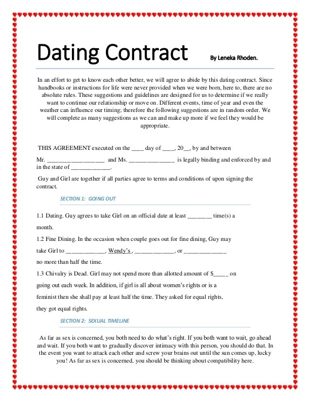 Dating Contract