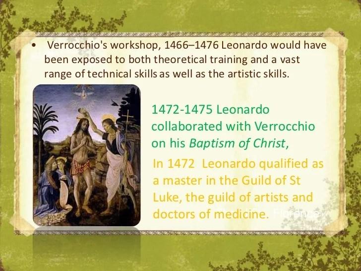 And Baptism Leonardo Verrocchio Christ 1472