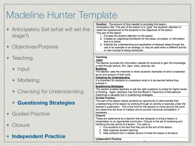 learning cycle lesson plan template - search results for madeline hunters blank lesson template
