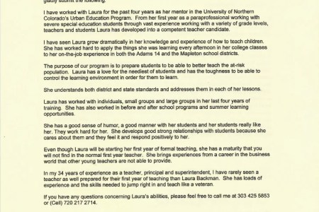 letter of recommendation for principal free professional resume